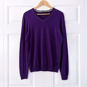 BOSS Slim Fit Purple Sweater | M